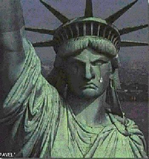 Image result for statue of liberty tear